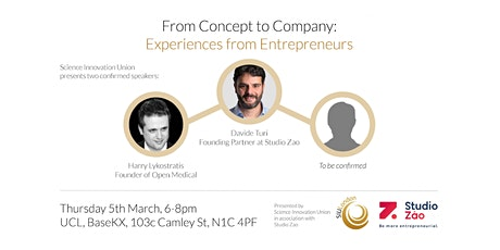 From Concept to Company: Experiences from Entrepreneurs tickets
