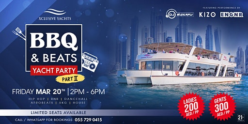 BBQ & BEATS Yacht Party Dubai is back by popular demand!