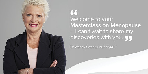 Your TIMARU Master-class on Menopause - by Dr Wendy Sweet