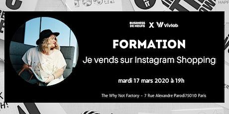 Formation : Je vends sur Instagram Shopping billets