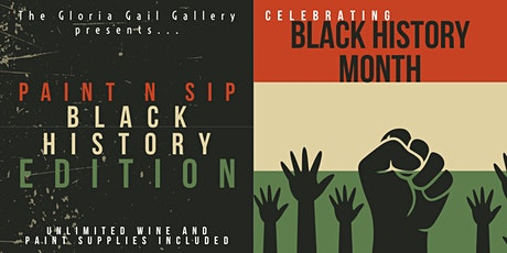 Paint 'n' Sip Unlimited Wine : Black History Month Edition tickets
