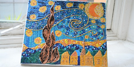 Henna Inspired Van Gogh Canvas Design Workshop tickets