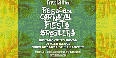 Resaca de carnaval fiesta brasilera entradas