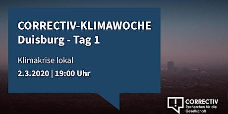 CORRECTIV-Klimawoche Duisburg: Klimakrise Lokal - Tag 1 Tickets