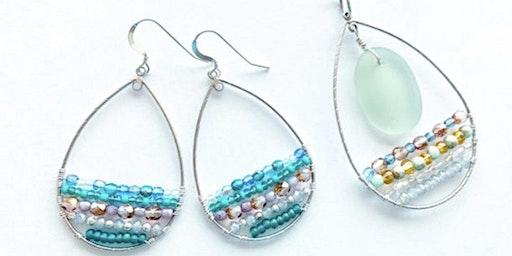 Wirewrapped teardrop earrings or necklace jewelry workshop