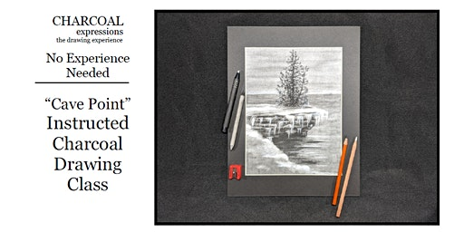 """Charcoal Drawing Event """"Cave Point"""" in Amherst"""