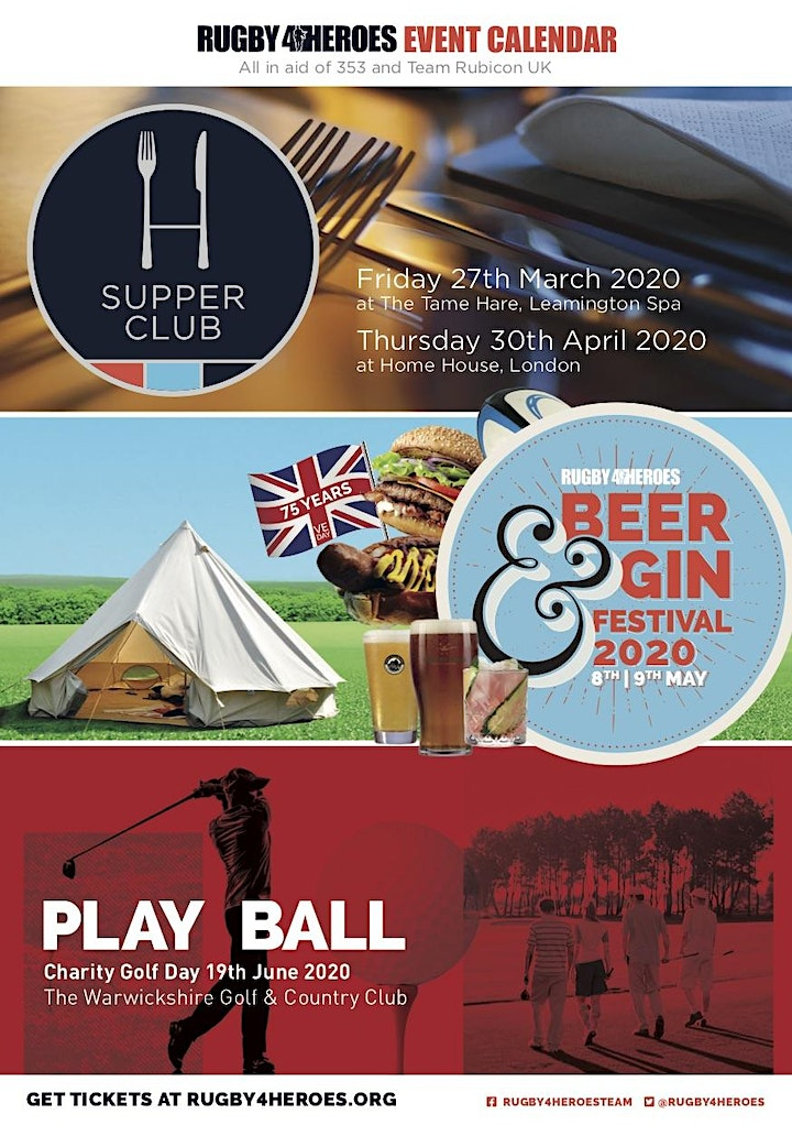 Rugby4Heroes Beer and Gin Festival image