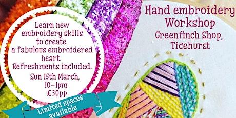 Hand embroidery - Decorative stitch workshop tickets