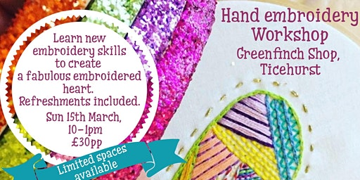 Hand embroidery - Decorative stitch workshop