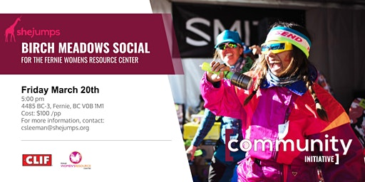 BC SheJumps Birch Meadows Social for the Fernie Womens Resource Center