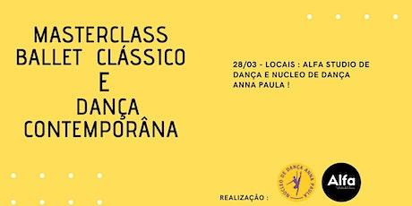 MASTER CLASS CLASSICO E DANÇA CONTEMPORÂNEA ingressos