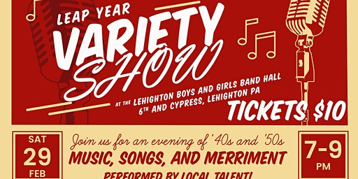 Leap Year Variety Show to Benefit Lehighton Boys and Girls Band