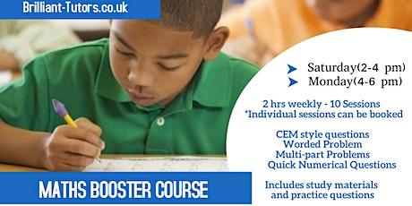 Maths Booster Course ( CEM Style Questions) tickets