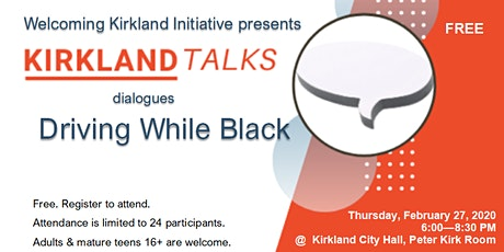 Kirkland Talks Community Dialogue: Driving While Black tickets