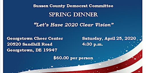 Sussex County Democratic Committee Annual Spring Dinner