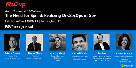 Azure Gov DC Meetup - The Need for Speed: DevSecOps in Gov  tickets