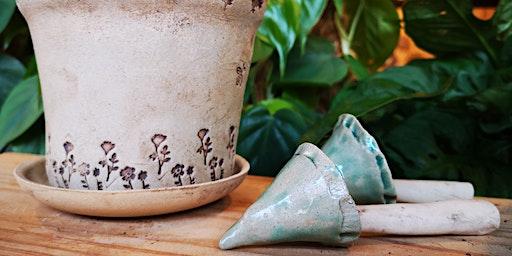 Pottery workshop - make your own plant pot, saucer