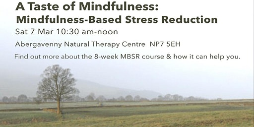 A Taste of Mindfulness: Mindfulness-Based Stress Reduction (7 March)