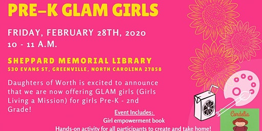 GLAM Girls for Pre-K - 2nd Grade!