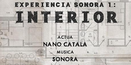 Experiencia Sonora I: Interior entradas