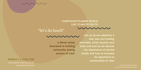 """Let's Do Lunch"" WOC Dinner Party tickets"