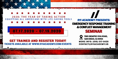 911 Academy Presents: Emergency Response Training and Conflict Management tickets