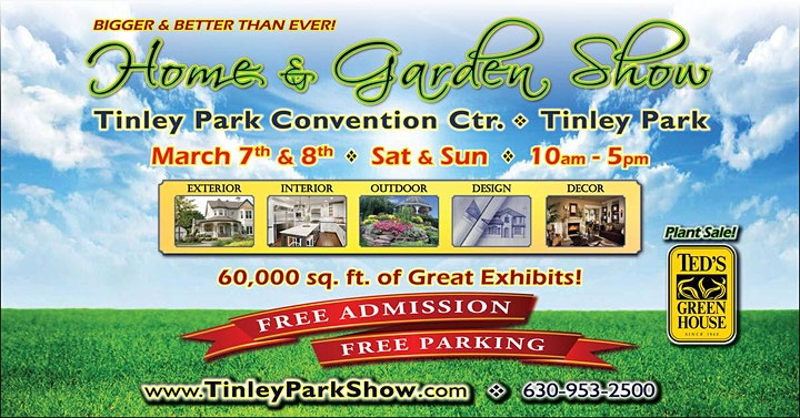 Free Tinley Park Home & Garden Show March 7th & 8th image