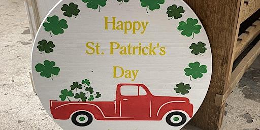 St Patricks Day Truck Sign