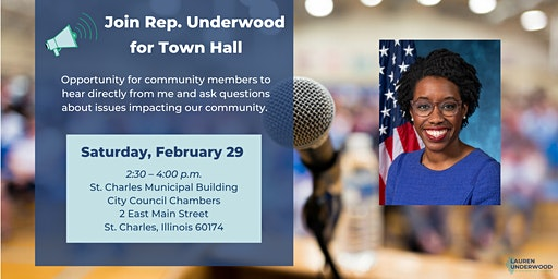 St. Charles Town Hall with Rep. Lauren Underwood