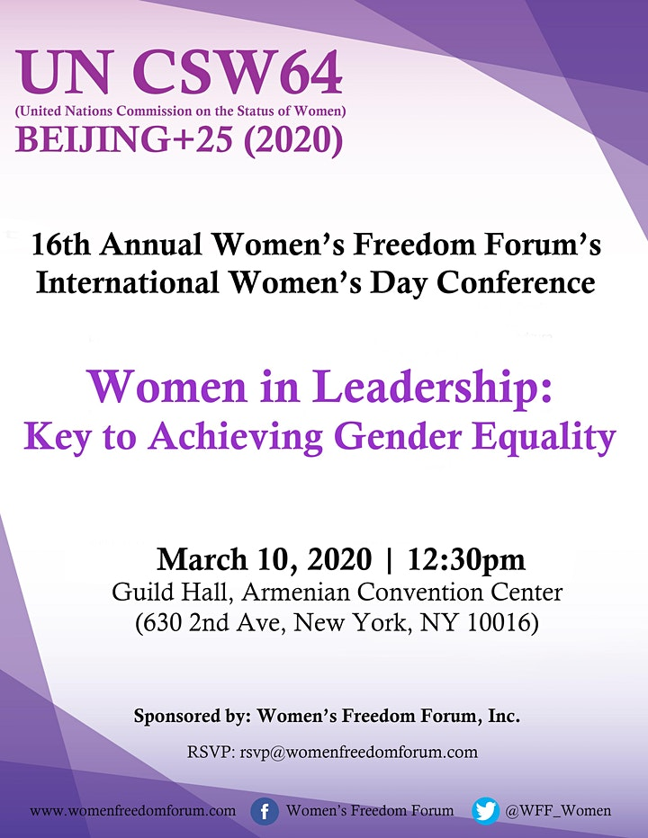 16th Annual Event: Women in leadership, Key to Achieving Gender Equality image