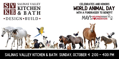 World Animal Day @ Salinas Valley Kitchen fundraiser for Max's Helping Paws tickets