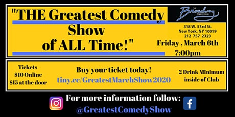 THE Greatest Comedy Show of ALL Time - The March 2020 Edition tickets