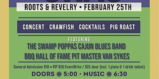Mardi Gras Concert, Crawfish Boil & Pig Roast