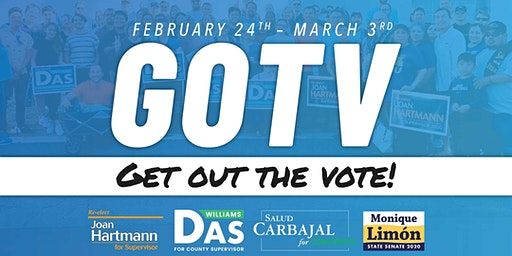 GOTV: Get Out the Vote for the Democratic slate!