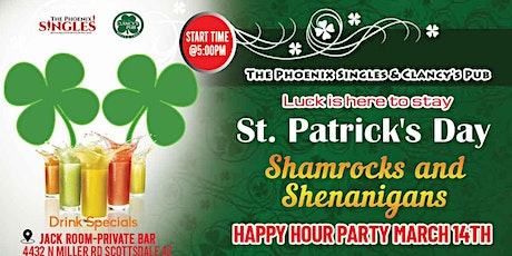 Phoenix Singles and Clancy's Pub Shamrocks and Shenanigans Weekend tickets
