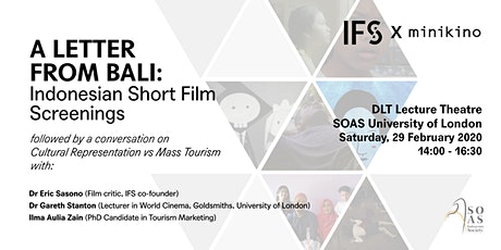 A Letter from Bali: Indonesian Short Film Screening tickets