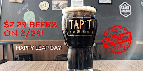 $2.29 Craft Beers on 2/29 tickets