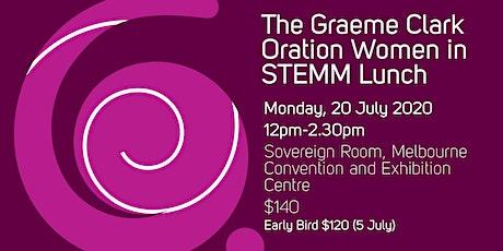 2020 Graeme Clark Oration - Women in STEMM Lunch tickets