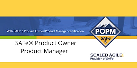Product Owner/Product Manager - SAFe® 5.0 - Herndon tickets