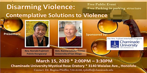 Disarming Violence: Contemplative Solutions to Violence