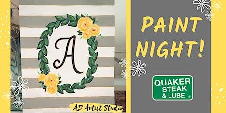 Spring Monogram Wreath Paint Night tickets