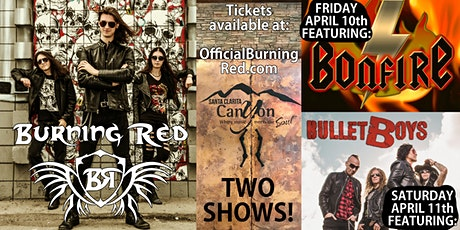 Burning Red - April 10 & 11 - TWO DAYS @ The Canyon SCV tickets