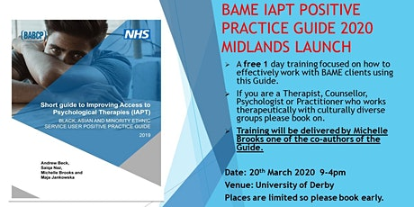 BAME Positive Practice Guide Midlands launch 2020 tickets
