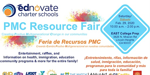 Ednovate's First Annual PMC Resource  Fair