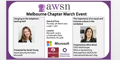 AWSN Melbourne March 2020 Event tickets
