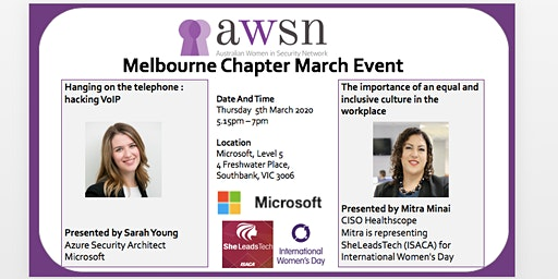 AWSN Melbourne March 2020 Event