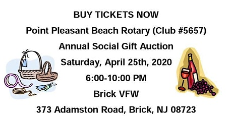 POSTPONED: Point Pleasant Beach Rotary Gift Auction tickets