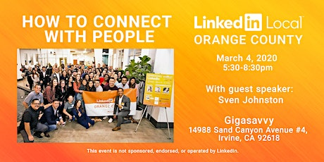 Linkedin Local OC: How to Connect with People tickets