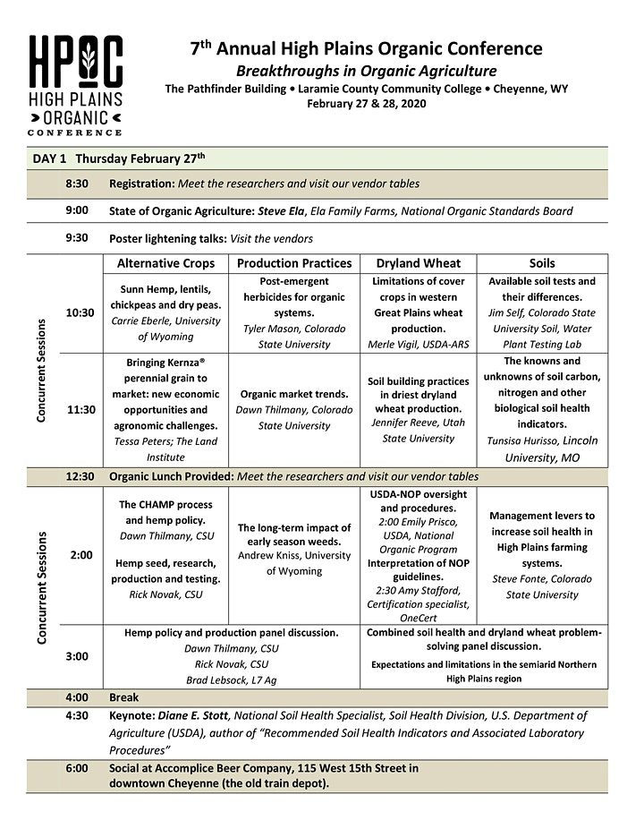 7th Annual High Plains Organic Conference image