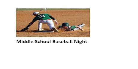 Middle School Baseball Night tickets